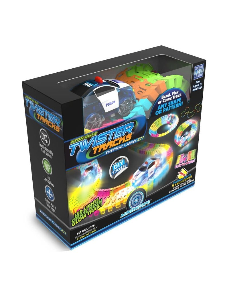 Mindscope Products Twister Tracks Neon Glow Track & Car - Emergency Series 221