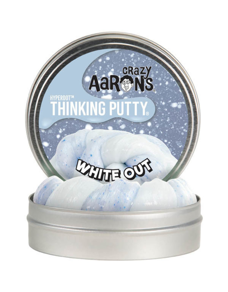 Crazy Aaron Putty Crazy Aaron's Thinking Putty - Hyperdot - White Out