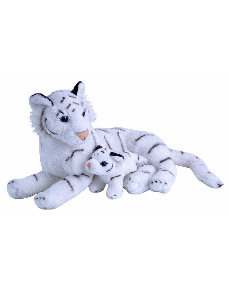 Wild Republic Mom and Baby, White Tiger