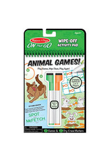 Melissa & Doug On-the-Go Animal Games! Wipe-Off Activity Pad