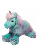 Douglas Plush Veda Aqua Unicorn Rainbow Fuzzle