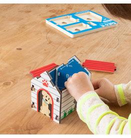 Fat Brain Toys Wooden Build It Blueprint Puzzles - Dog House