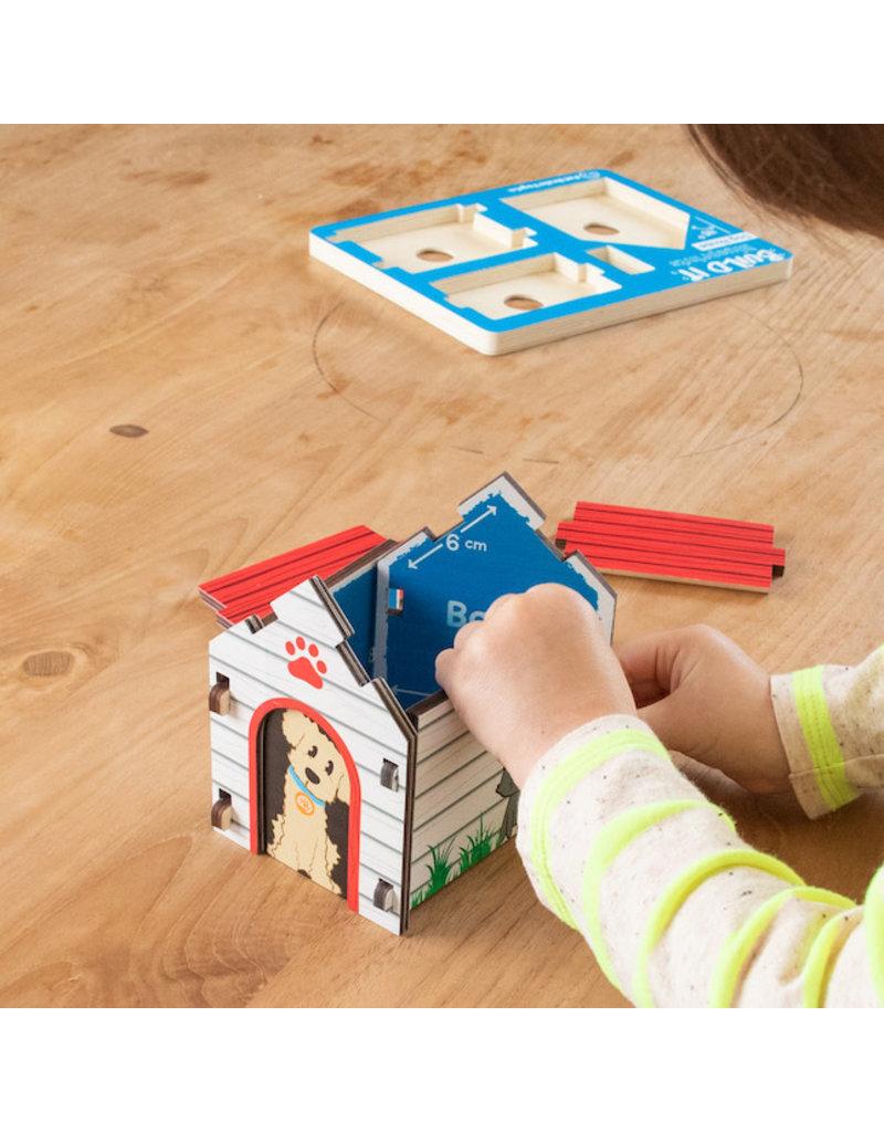 Fat Brain Toys Build It Blueprint Puzzles - Dog House
