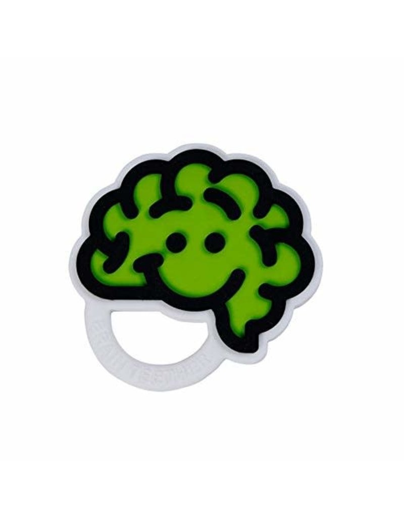 Fat Brain Toys Brain Teether Green
