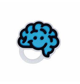 Fat Brain Toys Baby Brain Teether Blue