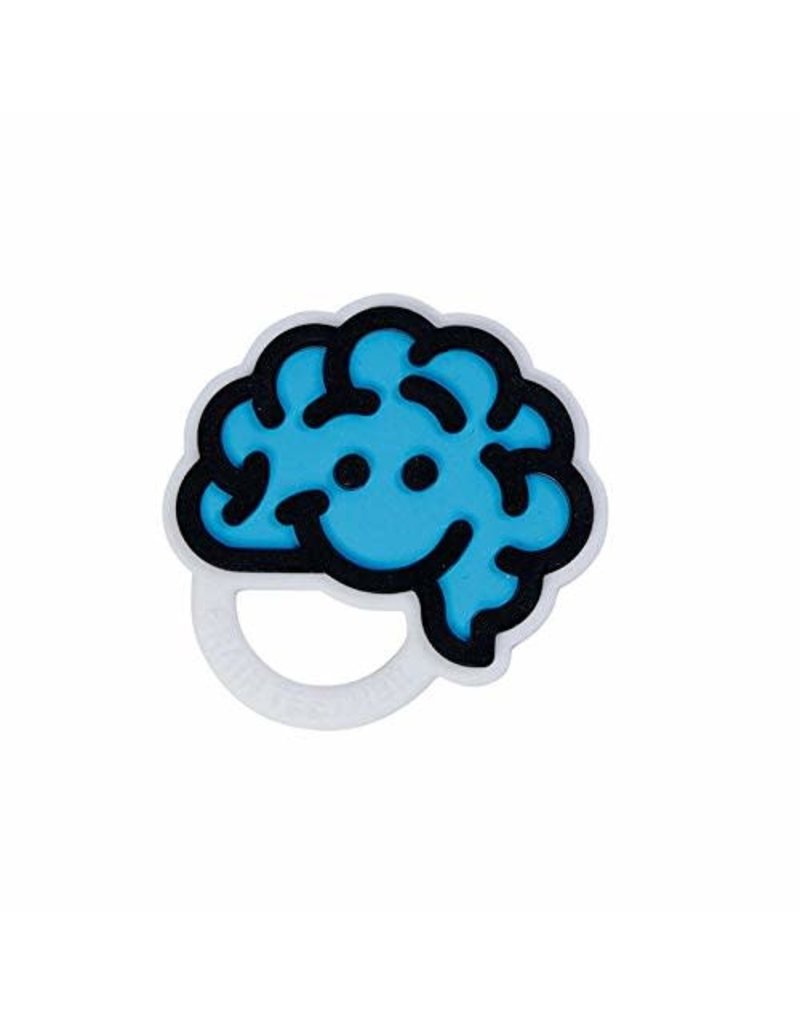 Fat Brain Toys Brain Teether Blue