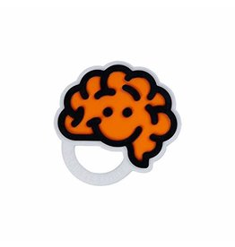 Fat Brain Toys Brain Teether Orange