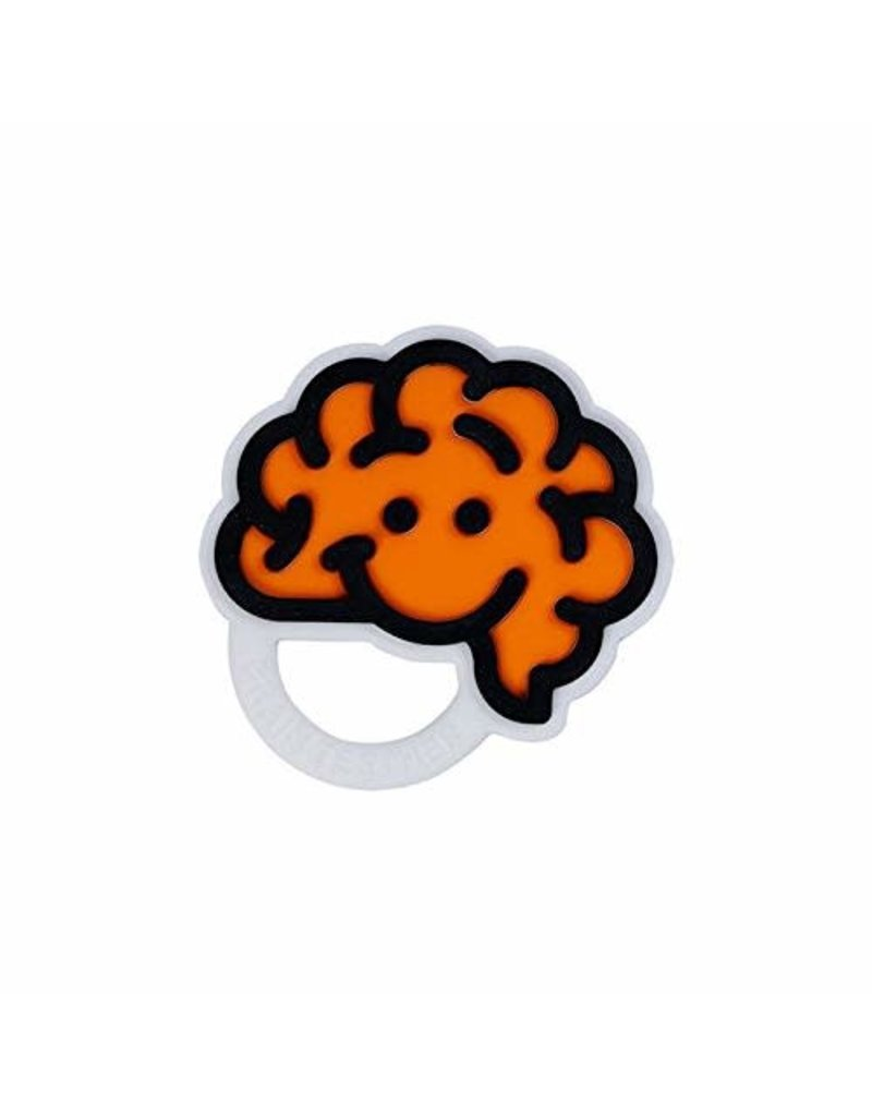 Fat Brain Toys Brain Teether Orange