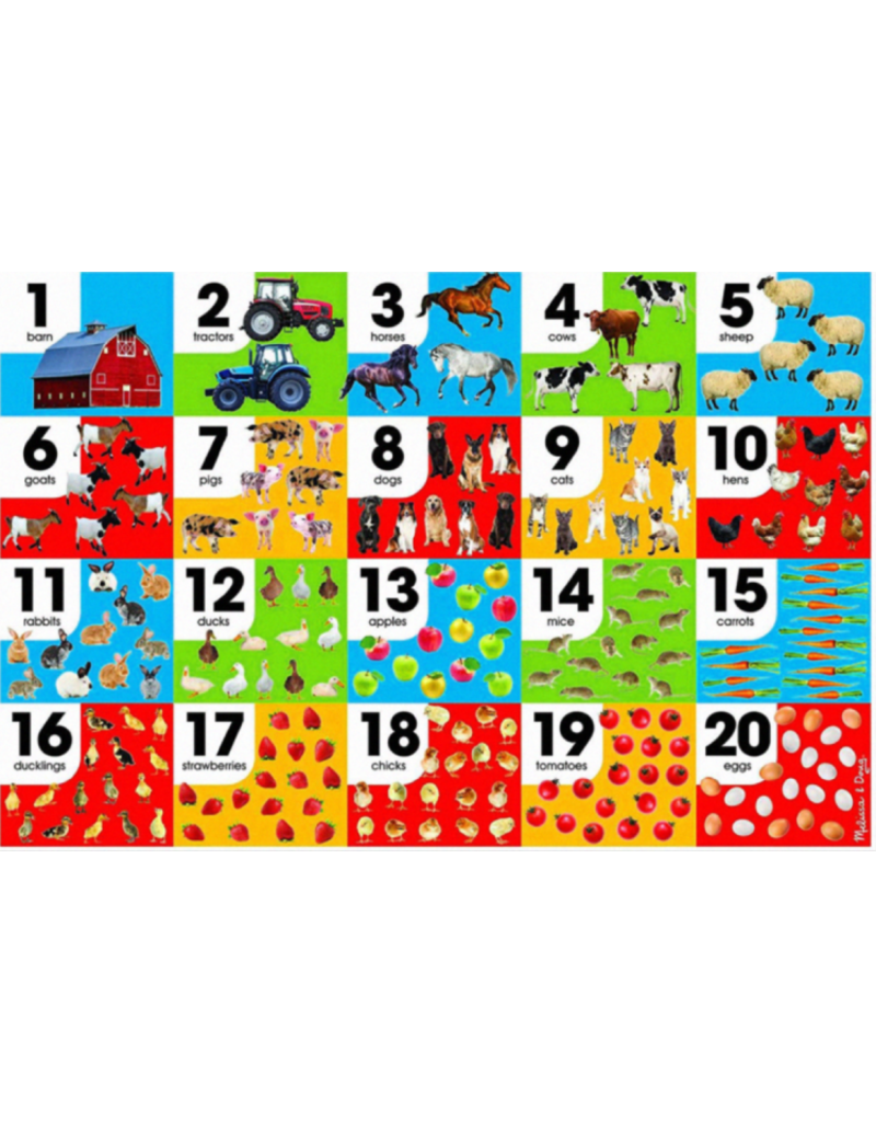 Melissa & Doug Floor Puzzle - Farm Number - 24 Piece