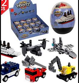 Wange Mini Vehicle Egg Building Blocks