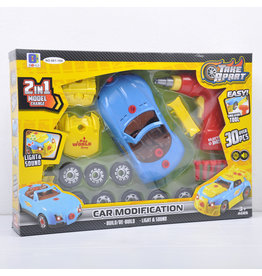 Hobbies Unlimited Take Apart Blue Car Modification Kit