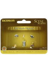 Bachmann Hobby Bachmann Scene Scapes - HO Scale Figures - Cats with Garbage Can