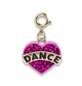 CHARM IT! Charm It! Gold Glitter Dance Heart Charm