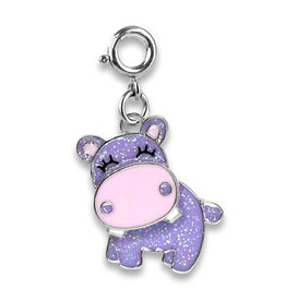 CHARM IT! Charm It! Glitter Swivel Hippo Charm