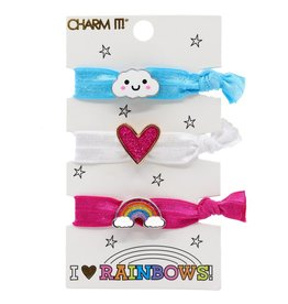 CHARM IT! Charm It! Rainbow Hair Elastic Set