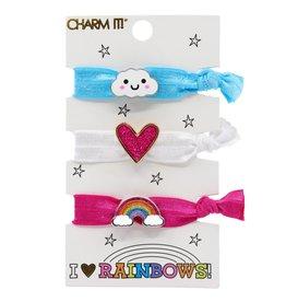 CHARM IT! Jewelry Charm It! Rainbow Hair Elastic Set