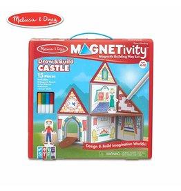 Melissa & Doug Magnetivity - Draw and Build Castle