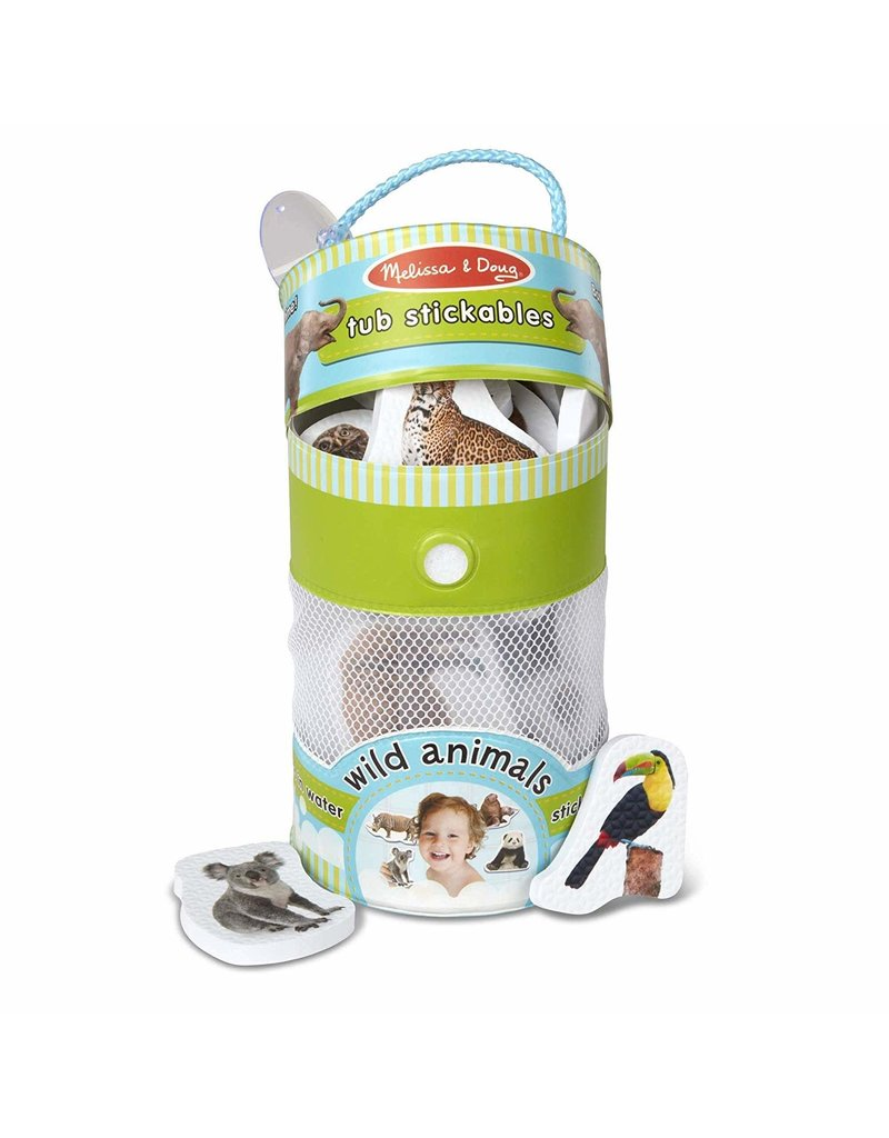 Melissa & Doug Baby Tub Stickables - Wild Animals