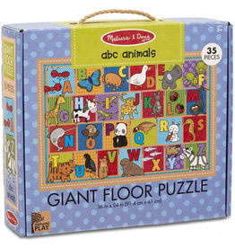 Melissa & Doug Puzzle - Natural Play Giant Floor Puzzle - ABC Animals - 35 Pieces
