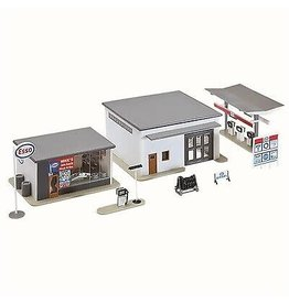 Model Power Hobby HO Scale Model Building - Mike's Gas, Auto Supply & Wash
