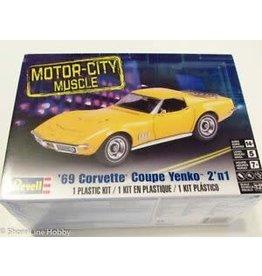 Revell Hobby Revell SnapTite Model Car - '69 Corvette Coupe Yenko 2-in-1 (1:25)