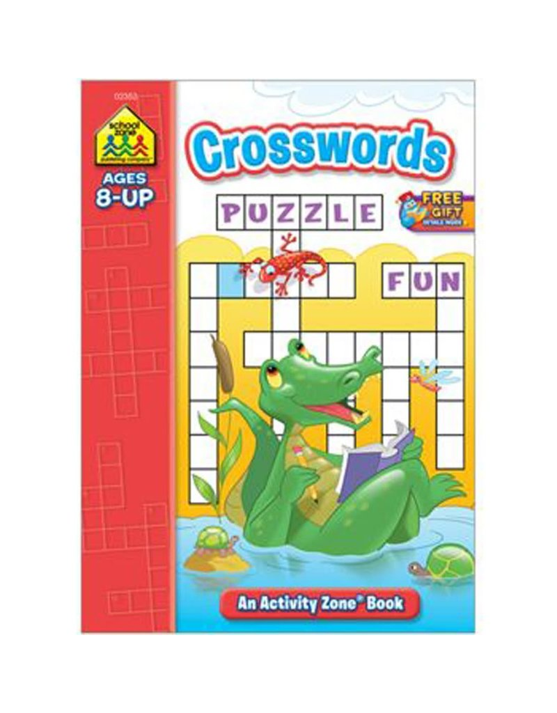 School Zone Workbook - Crosswords - Ages 6+