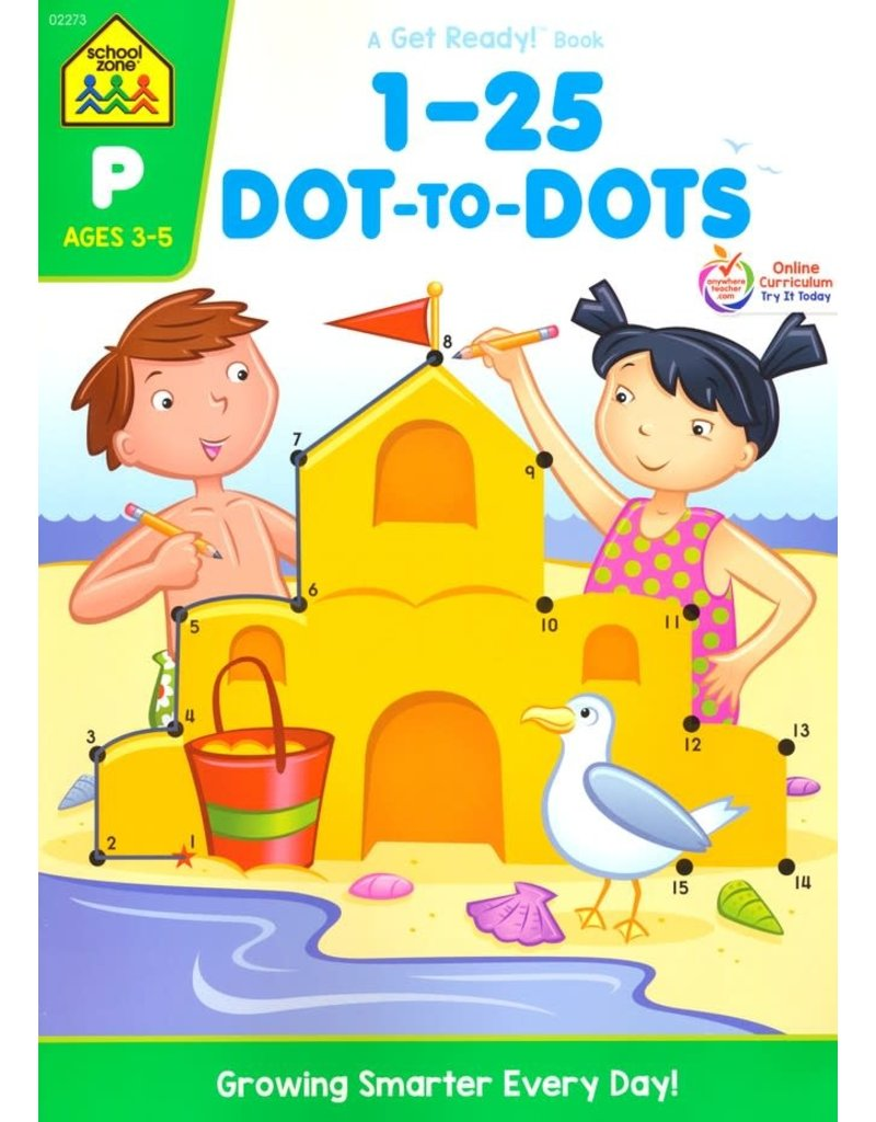 School Zone Workbook - 1-25 Dot-to-Dots