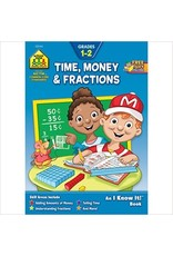 School Zone Workbook - Time, Money & Fractions - Ages 6-8