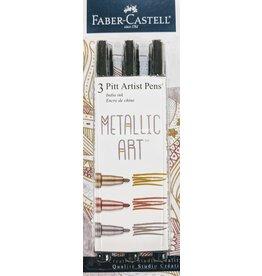 Faber-Castell Metallic Art Pens 3-pack