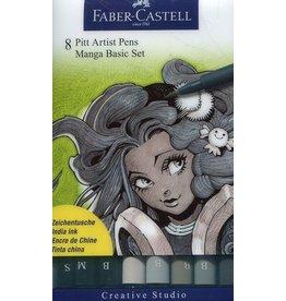 Faber-Castell Art Supplies -  PITT Artist Pen MANGA Basic Set