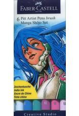 Faber-Castell Art Supplies - MANGA Shojo Set PITT Artist Brush Pen