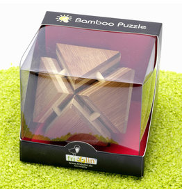 Fridolin Brainteaser IQ Test Bamboo Puzzle - Magic Trianglebox