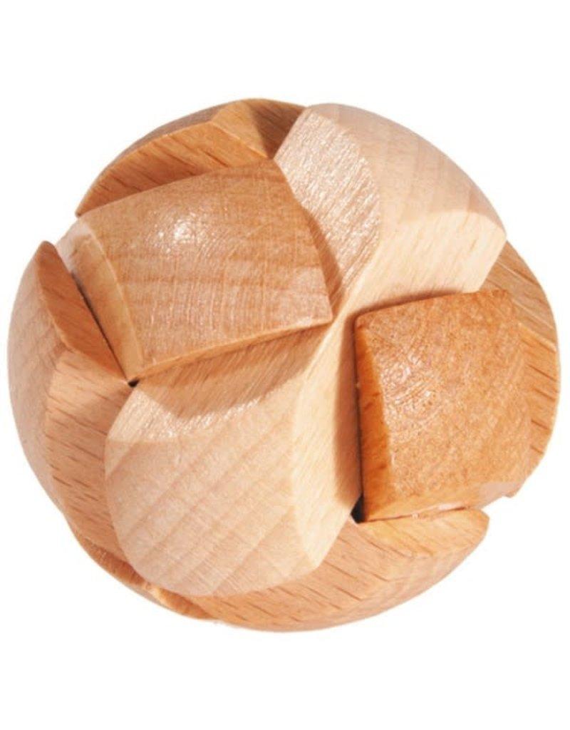 Fridolin Mini Bamboo Puzzle - Ball, Natural