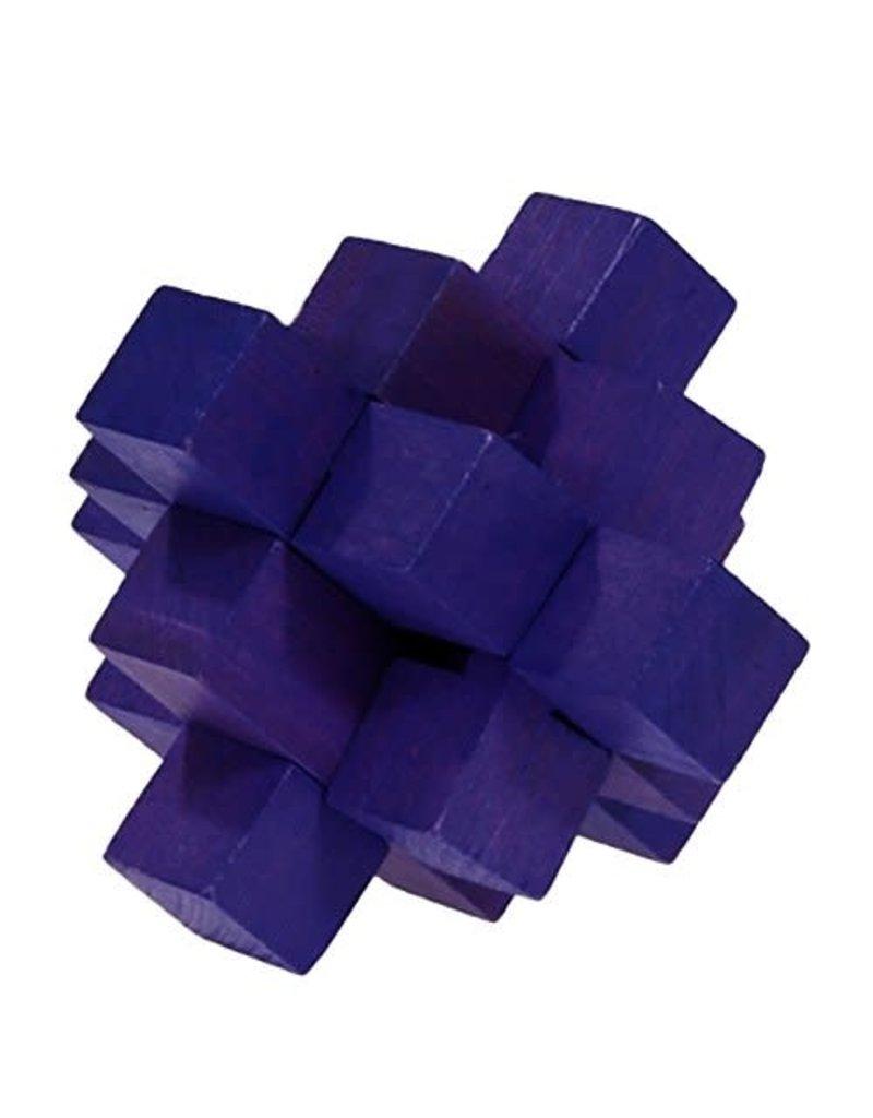 Fridolin IQ Test Bamboo Puzzle - Purple Bloc