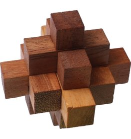 Fridolin Mini Bamboo Puzzles - block star