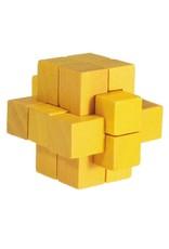 Fridolin Mini Bamboo Puzzle - yellow