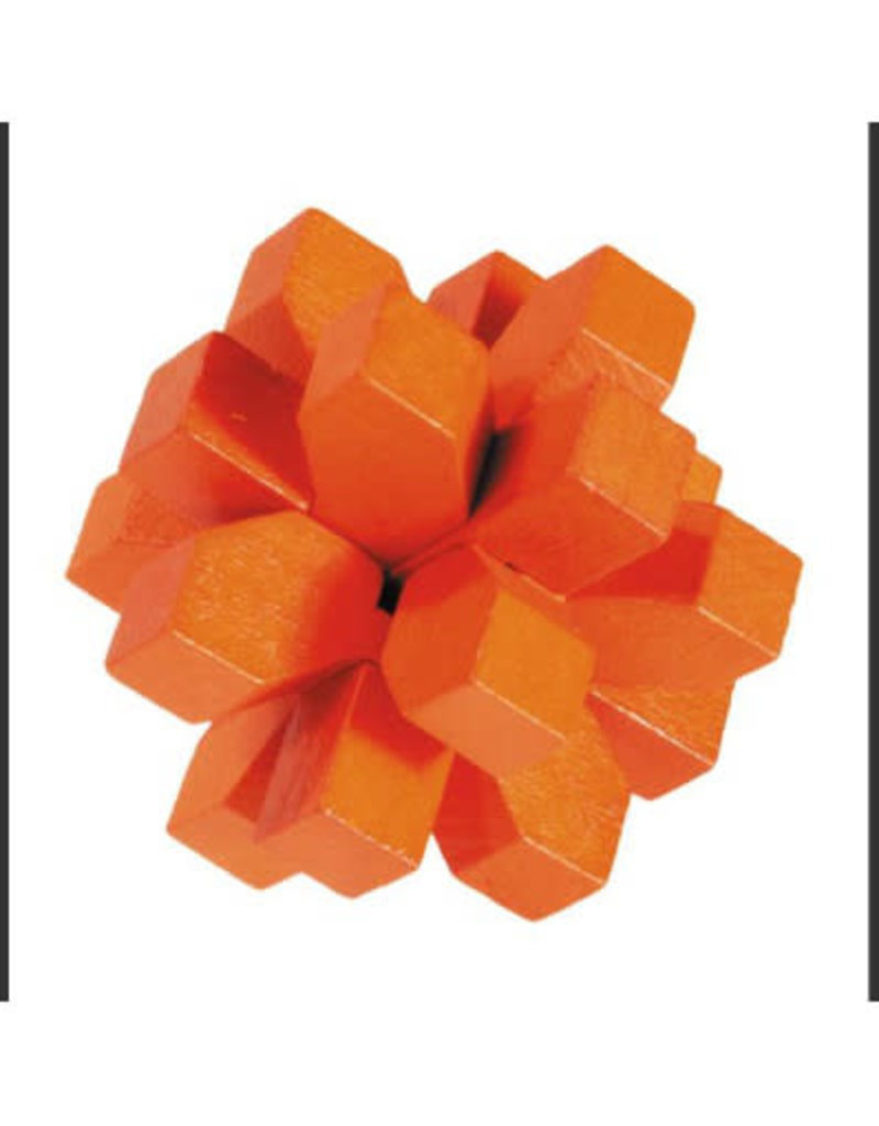 Fridolin mini Bamboo Puzzle - Orange