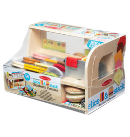 Melissa & Doug Pretend Food Slice & Stack Sandwich Counter