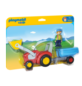 Playmobil Tractor with Trailor