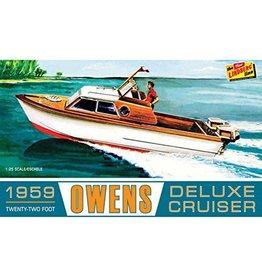 Lindberg Line Hobby Model Boat - 1959 22' Owens Deluxe Cruiser (1:25)