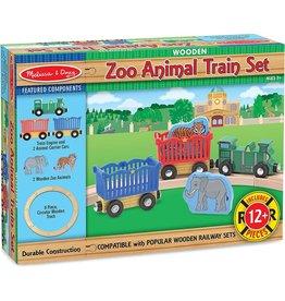 Melissa & Doug Wooden Zoo Animal Train Set