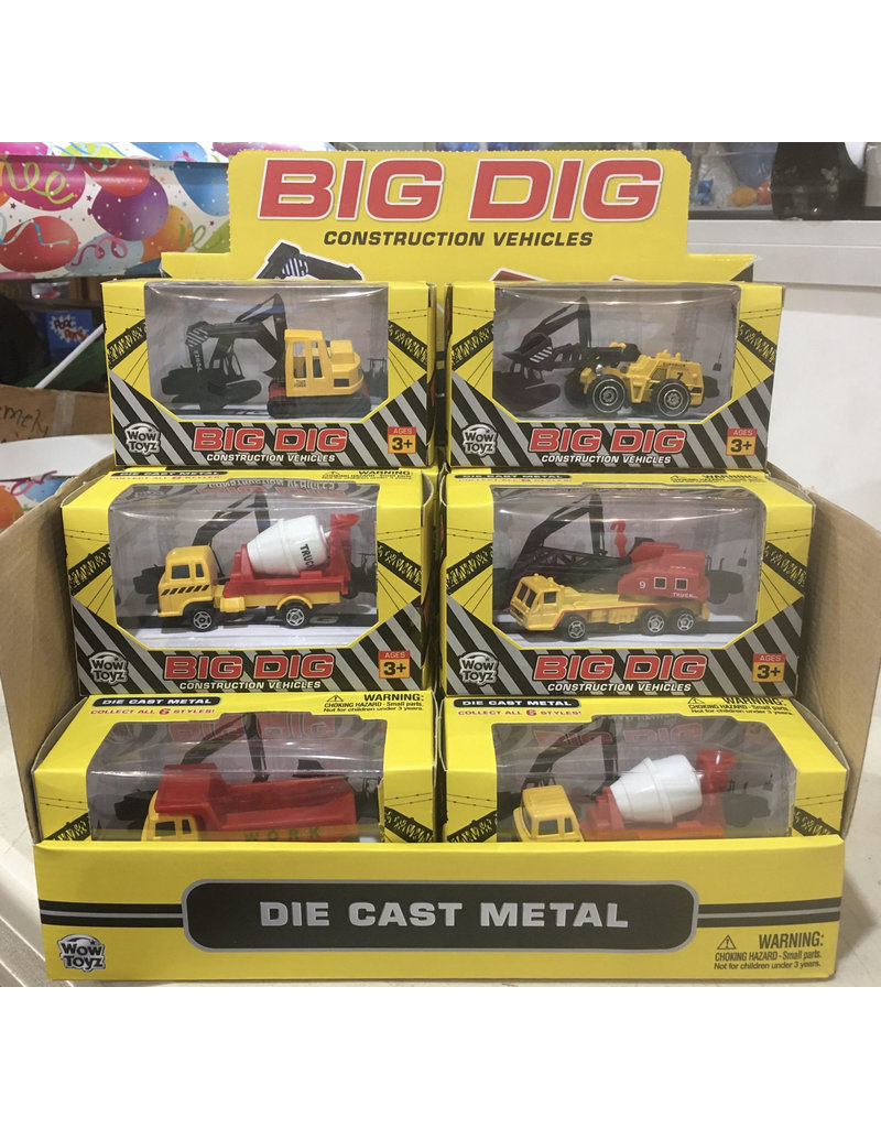Wowtoyz Big Dig Construction Vehicles (Styles Vary)
