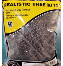 "Woodland Scenics Hobby Realistic Trees Kit - 7 Green Deciduous (5"" to 7"")"