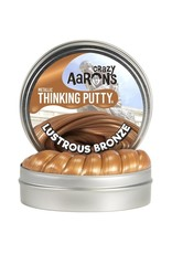 "Crazy Aaron Putty Crazy Aaron's Thinking Putty - Metallic - Lustrous Bronze- 2"" Mini Tin"