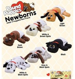Schylling Pound Puppies - Newborns - Gray and Black Spots