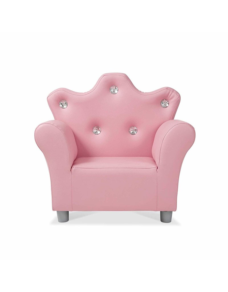Melissa & Doug Furniture Child's Crown Armchair Pink Faux Leather