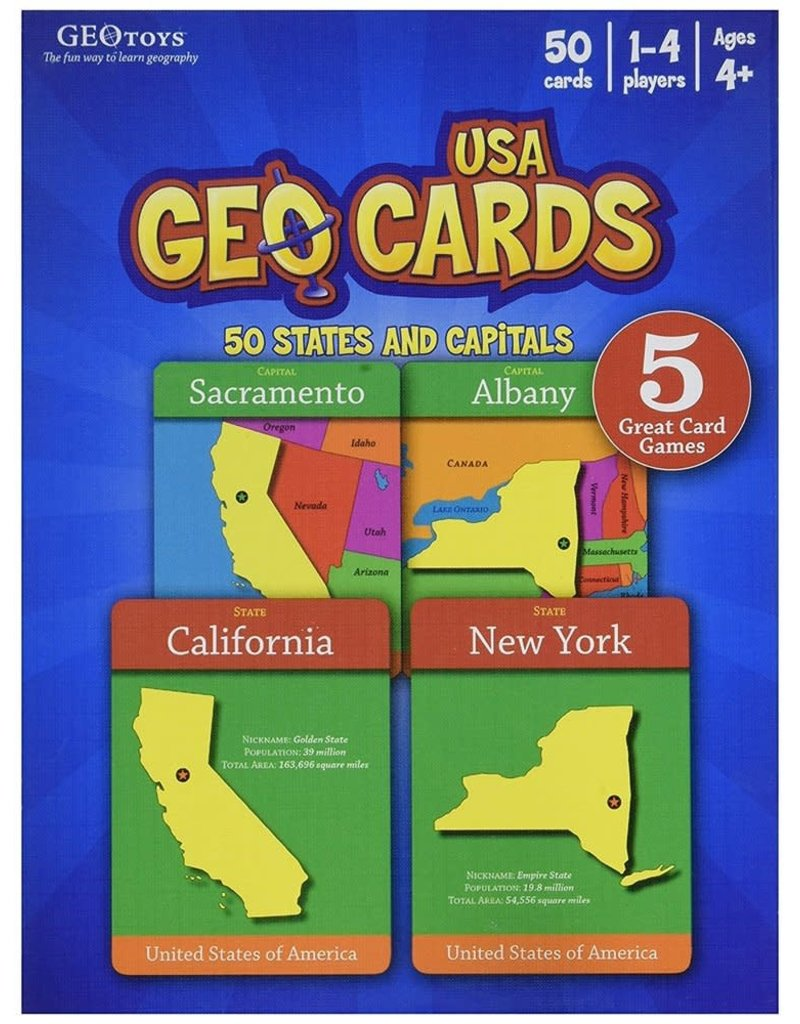 Geo Toys GeoCards USA