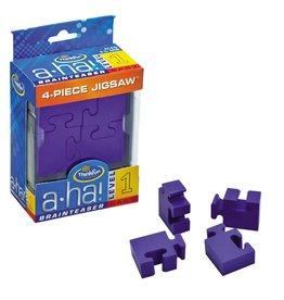 Think Fun 4-Piece Jigsaw Brainteaser (Purple)