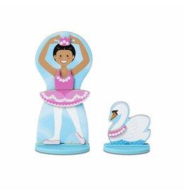 Melissa & Doug Wooden Ballerina/Fairy Magnetic Dress-Up Play Set