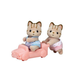 Calico Critters Calico Critters Sandy Cat Twins With a Car